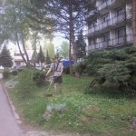 Úprava okolia internátu